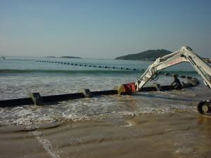 Saneamento e emissário submarino em Nigrán (Pontevedra)