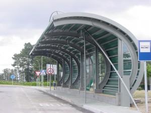 Áreas de estacionamento de autobuses en Pereiro de Aguiar (Ourense)