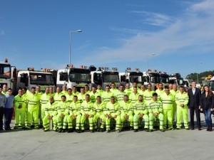 Misturas in charge of the snowplow equipment for the roads of Ourense