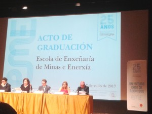 Vigo's Faculty of Mining and Energy acknowledges Misturas' performance and the support it has given to the University