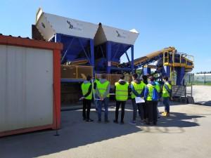 Civil Engineering Students of the Universidad de Santiago de Compostela visit Misturas' cold asphalt mixing plant